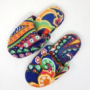 VERA BRADLEY Plush Slippers 5-6